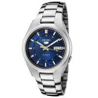 Seiko 5 Gent Uhr SNK615K1 Automatikuhr Silber Blau Herrenuhr Watch NEU & OVP