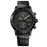 Hugo Boss Uhr 1513389 Herren Chronograph Leder Schwarz Edelstahl Watch NEU & OVP