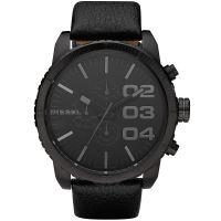 Diesel Uhr DZ4216 Herrenuhr XXL Chronograph Black Leder Watch NEU & OVP