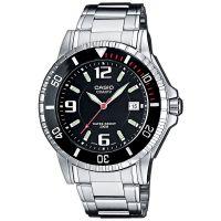 Casio Uhr MTD-1053D-1A Herren Armbanduhr Edelstahl Schwarz Silber Men NEU & OVP