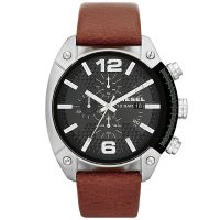 Diesel Uhr DZ4296 Herrenuhr XL Overflow Chronograph Braun Leder Watch NEU & OVP