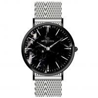 Mendozza Uhr MW-PS0404L-SM Black Marble Marmoruhr Schwarz Silber