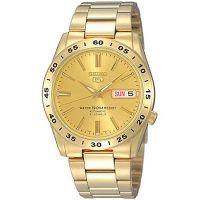 Seiko 5 Gents Uhr SNKE06K1 Automatikuhr Gold Golden Herrenuhr Datum NEU & OVP