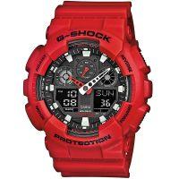 Casio G-Shock Herrenuhr GA-100C-4A Armbanduhr Digital Analog Rot black NEU & OVP