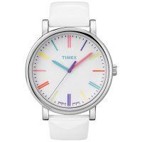Timex Uhr T2N791 ORIGINALS Damen Leder Weiß Silber Pink Gelb Rot Watch NEU & OVP