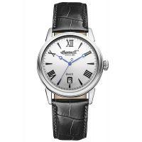 Ingersoll Uhr INQ001SLBK Grafton Herren Leder Schwarz Edelstahl Silber NEU & OVP