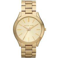 Michael Kors Uhr MK3179 Damenuhr Gold Edelstahl Slim Runway Armbanduhr NEU & OVP