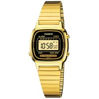 Casio Uhr LA670WGA-1DF Digital Damen Armbanduhr Gold Schwarz Watch NEU & OVP