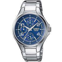 Casio Edifice Herrenuhr EF-316D-2A Armbanduhr Edelstahl Blau Silber NEU & OVP
