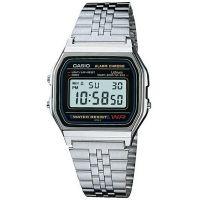 Casio Uhr A159W-N1DF Retro Digitaluhr Armbanduhr Herren Damen Silber NEU & OVP