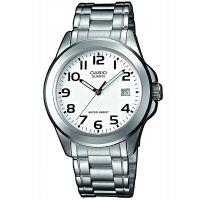 Casio Uhr MTP-1259PD-7B Herren Edelstahl Silber Weiß B-WARE mit Gebrauchsspuren
