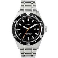 GANT Uhr W70391 Seabrook Herren Silber Schwarz Edelstahl Datum Watch NEU & OVP