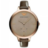 Emporio Armani Uhr AR7306 Damenuhr Roségold Braun Leder Lady Watch NEU & OVP