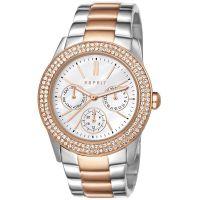 Esprit Uhr ES103822016 Damen Chronograph Edelstahl Silber Roségold NEU & OVP