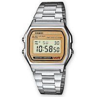 Casio Uhr A158WEA-9EF Vintage Iconic Retro Digitaluhr Herren Damen Silber NEU & OVP