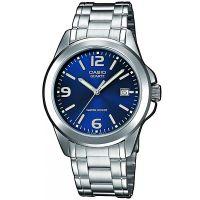 Casio Uhr MTP-1259PD-2A Herren Edelstahl Blau Silber B-WARE mit Gebrauchsspuren