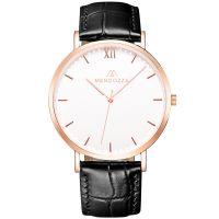 Mendozza Uhr MW-RR0300H-LK White Moon Armbanduhr Leder Weiß Roségold