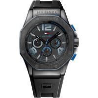 Tommy Hilfiger Uhr 1790912 Herrenuhr Schwarz Blau Armbanduhr Watch NEU & OVP