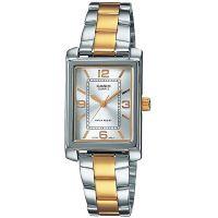 Casio Uhr LTP-1234PSG-7A Damen Armbanduhr Edelstahl Silber Gold Watch NEU & OVP