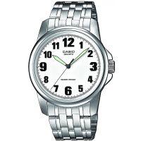 Casio Uhr MTP-1260PD-7B Herren Armbanduhr Edelstahl Silber Weiß watch NEU & OVP