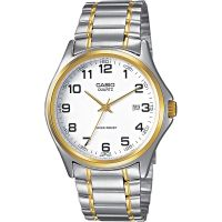 Casio Uhr MTP-1188PG-7B Herren Armbanduhr Edelstahl Weiß Gold Silber NEU & OVP