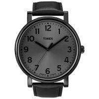 Timex Uhr T2N346 ORIGINALS Oversize Herrenuhr Leder Schwarz Grau Watch NEU & OVP