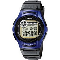Casio Uhr W-213-2A Herren Damen Digitaluhr Armbanduhr Blau Schwarz NEU & OVP