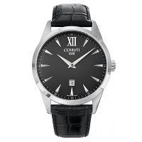 Cerruti 1881 Uhr CRA066A222A Herrenuhr Leder Schwarz Silber Watch Men NEU & OVP