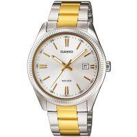 Casio Uhr MTP-1302PSG-7A Herren Armbanduhr Edelstal Silber Gold Datum NEU & OVP