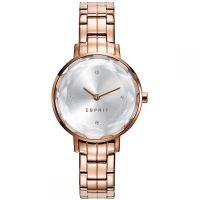 Esprit Uhr ES109312006 Damen Edelstahl Roségold Silber Strass Watch NEU & OVP