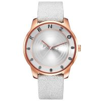 Kenzo Uhr K0054007 Paris Damen Herren Weiß Roségold Lederarmband Watch NEU & OVP
