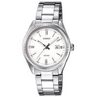 Casio Uhr LTP-1302PD-7A1VEF Damen Edelstahlarmband Silber Weiß Watch NEU & OVP
