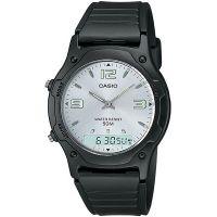 Casio Unisexuhr AW-49HE-7AVDF Analog Digital Herren Damen Silber watch NEU & OVP