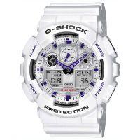 Casio G-Shock Uhr GA-100A-7AER Herren Digital Analog Weiß Black Sport NEU & OVP