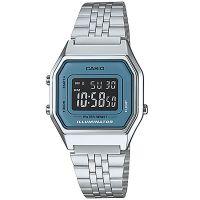 Casio Uhr LA680WA-2BDF Digitaluhr Armbanduhr Damen Silber Blau Watch NEU & OVP