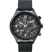 Timex Uhr T2N930 IQ FLY-BACK Intelligent Herrenuhr Chronograph Leder NEU & OVP