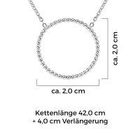Mendozza Kette MJ-NE01340L Damen Collier Silber Ring Anhänger