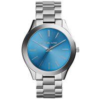 Michael Kors Uhr MK3292 Runway Damenuhr Silber Blau Edelstahl Slim NEU & OVP
