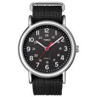 Timex Uhr T2N647 WEEKENDER Damen Herren Textilarmband Schwarz Silber NEU & OVP