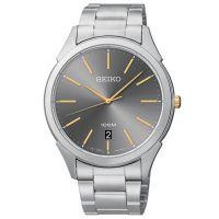 Seiko Uhr SGEG73P1 Herrenuhr Silber Gold Edelstahl Watch Men NEU & OVP
