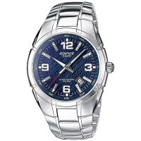 Casio Edifice EF-125D-2A Herren Armbanduhr Edelstahl Blau Silber NEU & OVP