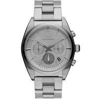 Emporio Armani Herrenuhr AR0375 Armbanduhr Edelstahl Silber Chrono NEU & OVP