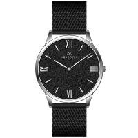 Mendozza Uhr MW-GS0104H-BM Black Sand Armbanduhr Schwarz Silber