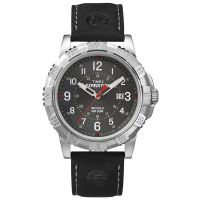 Timex Uhr T49988 EXPEDITION Rugged Herren Leder Schwarz Silber Watch NEU & OVP