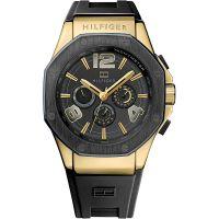 Tommy Hilfiger Uhr 1790911 Herrenuhr Schwarz Gold Armbanduhr Watch NEU & OVP