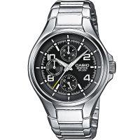 Casio Edifice Herrenuhr EF-316D-1A Armbanduhr Edelstahl Schwarz Silber NEU & OVP