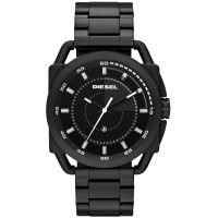 Diesel Uhr DZ1580 Herrenuhr XL Descender Schwarz Edelstahl Black Watch NEU & OVP