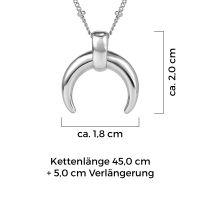 Mendozza Kette MJ-NE01095L Damen Collier Silber Luna Halbmond Anhänger