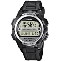 Casio Uhr W-756-1AVES Herren Damen Digital Armbanduhr Schwarz Silber NEU & OVP
