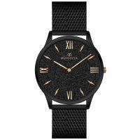 Mendozza Uhr MW-GG0404H-BM Black Sand Armbanduhr Schwarz Gold